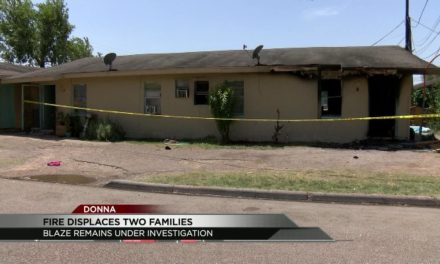 Fire displaces Two Families in Donna