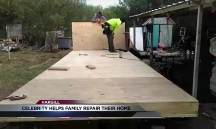 Celebrity Helps Family Repair Home after Fire