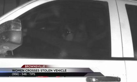 Woman Crosses Stolen Vehicle; Suspect Sought