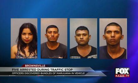 Brownsville Police Arrest 5 For Possession of Marijuana