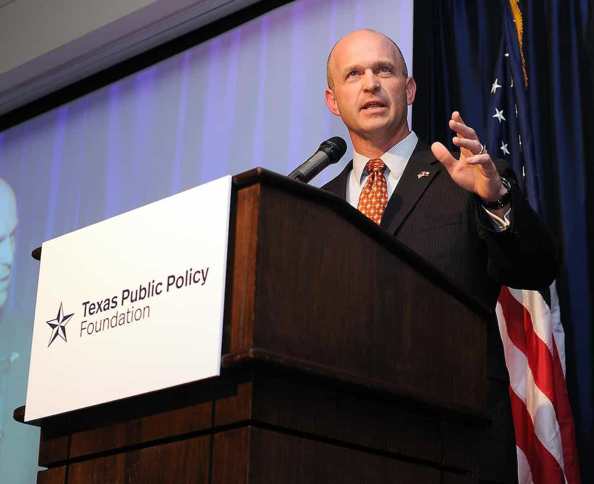 Featured: Kevin Roberts, Ph.D, Executive Director, Texas Public Policy Foundation, on Thursday, March 21, 2019 during the organization's 2019 Houston Awards Dinner. The Texas Public Policy Foundation is among a diverse coalition of statewide groups which have endorsed House Bill 81 by Rep. Terry Canales, D-Edinburg, which would prevent governments in Texas from keeping secret how much they pay for entertainment events, such as parades and concerts.  Photograph Courtesy TEXAS PUBLIC POLICY FOUNDATION