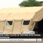 Drive-Thru COVID-19 Testing Site Opens