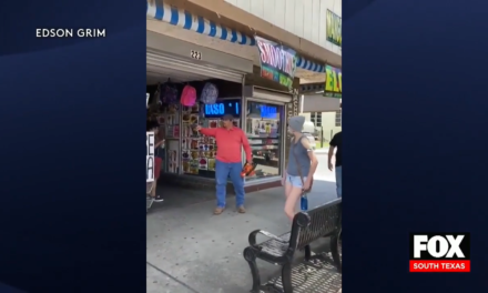 McAllen Man Confronts Protestors With a Chainsaw